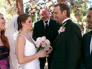 Beautiful Bride Has A Wedding Day Gangbang In Stockings