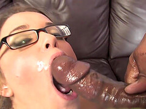 Cute Blonde Katie Thomas Swallows Cum From A Big Black Cock