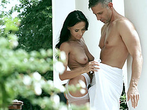 Pleasing Brunette Nicole Love Is Easy With A Monster Cock