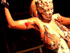 Kelly Madison Covered In Cake While Masturbating With Her Hands