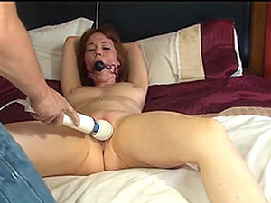 Tied Up, Ball Gagged And Pussy Abused Teen Babe Candi Blows