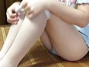 Cute Chinese Young Girl's Lovley Masturbation Part-2