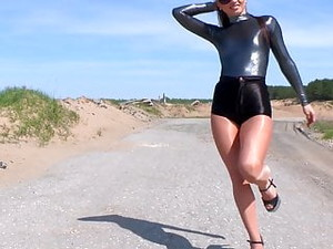 Shiny KATYA B Leotard, Shorts & Pantyhose Compilation