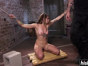 Tattooed Girl Gets Punished With Toys