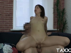 Slender Marina Caresses Herself