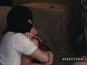 Innocent Brunette Farm Girl Aidra Fox Roped And Pounded