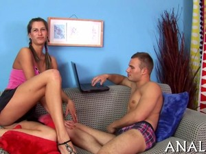 Tall Gorgeous Babe Fucks A Russian Dude On His Couch