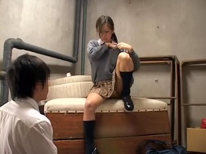 Cute Asian Eats Some Cum In Voyeur Japanese Sex Video