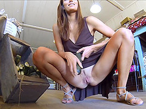 Avia Flashes Her Shaved Pussy In Public Solo Sex Video