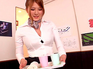 Asian Stewardess Lets A Passenger Fuck Her Tits And Mouth