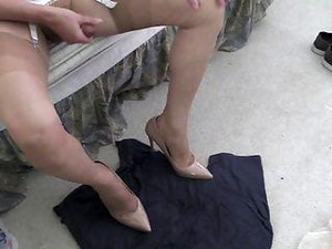Newer Shoes, Sheer Pantys, And Cum