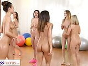 Fitness Rooms Lesbian Threesome Fitness Fuck