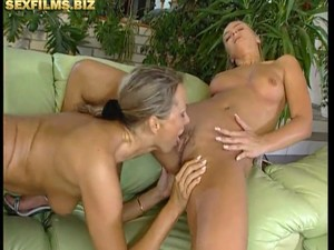 Michelle And Sandra Enjoys A Big Cock.