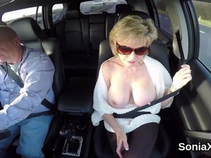 Unfaithful Uk Milf Lady Sonia Flashes Her Monster Tits