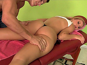 Well Graced Blonde Gets Massaged And Fucked In This POV Scene