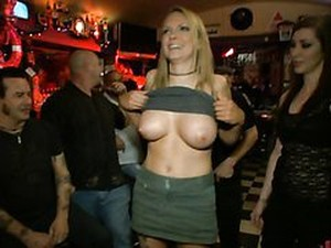 Blonde Milf Has Public Sex On Top A Pool Table In A Pool Hall