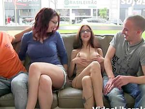 Leggy Ladies Silvi And Noa Seduced For An Amazing Foursome