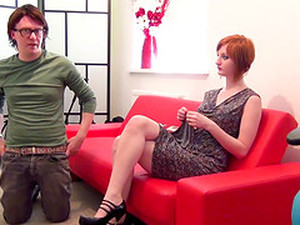 Zara Durose Is A Pale Ginger Lady Ready For A Blowjob Game