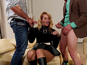 Classy Blonde Feasted Hardcore Doggystyle In Mmf Porn