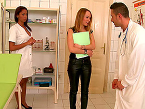 Slim Babes Blue Angel And Katia Share A Cock In A Hospital
