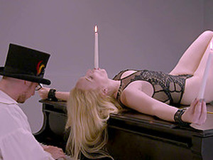 Kinky Piano Lesson For A Tied Up Blonde Teen Who Gets Pussy Fisted