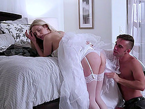 A Pretty Blonde Gets Her Pussy Reamed On Her Wedding Day