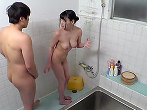 Busty Asian Babe Amano Miyuu Fucked By Multiple Cocks In The Bathroom