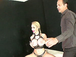 Plastic Blonde MILF Bimbo Chessie Kay Gives A Sloppy Deepthroat