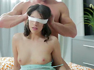 Handsome Men Treat A Cute Brunette To An Amazing Threesome