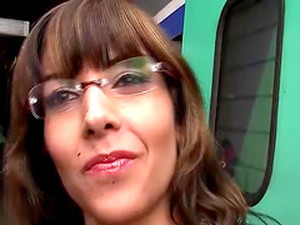 French Milf With Glasses Picked Up From Train For Her First Big Cock Anal Video Tape