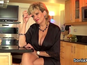 Cheating British Mature Lady Sonia Shows Off Her Monster Breasts