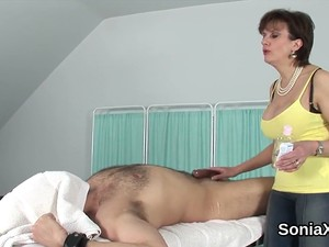 Cheating British Milf Lady Sonia Flashes Her Enormous Boobs Feature