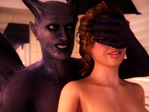 Demons From Hell Fuck Big Tits Beauty. 3D Porn Cartoons