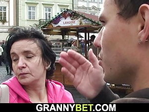 Picked Up Granny Tourist Rides Stranger's Cock