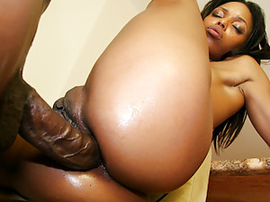 Tiny Black Slut Marie Luv Gets Her Asshole Reamed By A BBC