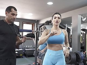 Sexy Gym Workout Cameltoe Big Pussy Ass Academia Malhando