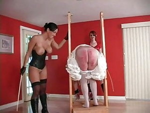 Megan Jones - Whipping Ballbusting