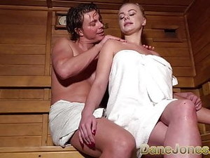 Dane Jones Busty Blonde Minx In Sexy Sauna Seduction Suck An