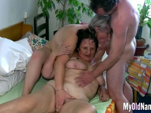 Granny Loves Threesome Mature Sex 1