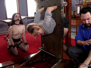 Slaves Got Anal And Cumshot In Threesome
