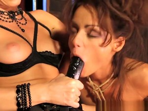 Lesbian Dominatrix Pussylicked By Timid Sub