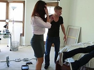 Helping His Ill Pal In The House And Fucking His Mom