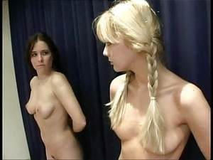 Blonde V Brunette Naked Scrap
