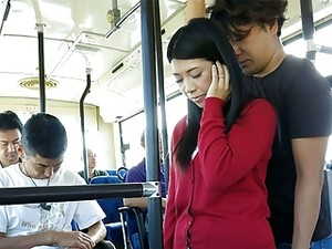Japanese Brunette, Aimi Nagano Got Fucked In The Bus, Uncens