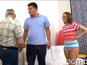 Nerdy Teen Tit Licked By Old Fat Man And Eaten Out
