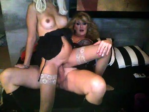 Busty Tranny Shemale Plays With Big Cock