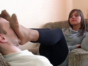 Polish Mistress Teases Her Slave With Her Gorgeous Feet