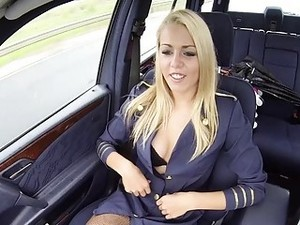 Sloppy Blowjob Given By A Stewardess