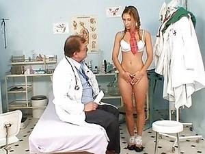 Shy School Girl Rachel Evans Has To Suck On School Doctor Penis
