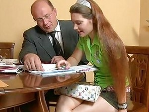 Naughty Schoolgirl Seduces Her Mature Teacher And Blows His Cock